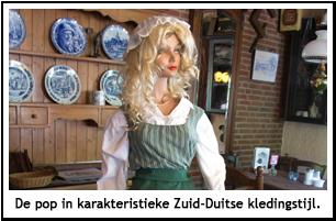 Pop in Zuid-Duitse kledingstijl.